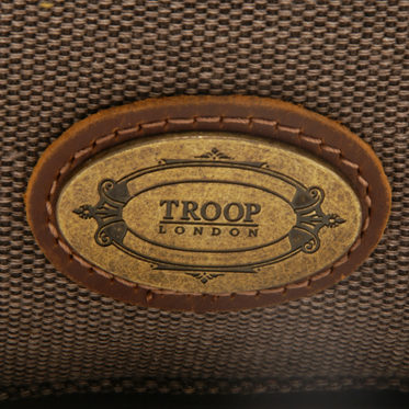 Troop London – Brown Dorchester Messenger/Body Bag in Canvas-Leather