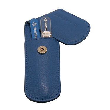 Pfeilring – 2 Piece Pocket Manicure Set in Blue Nappa Leather Case