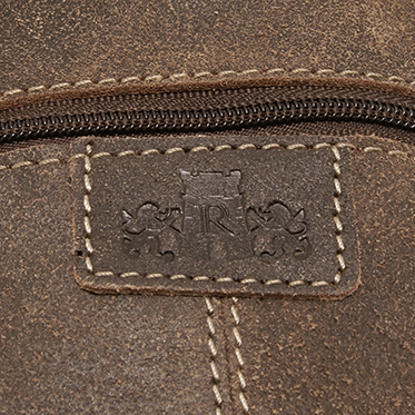 Rowallan – Brown Brushwood Messenger/Body Bag in Distressed Leather