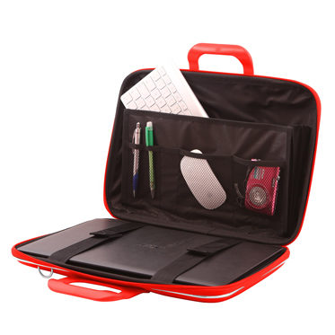 Bombata – Red Classic 15″ Laptop Case/Bag with Shoulder Strap