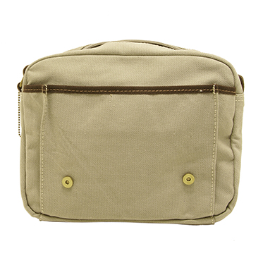 Troop London – Washed Stone Canvas Heritage Small Messenger Satchel Style Bag