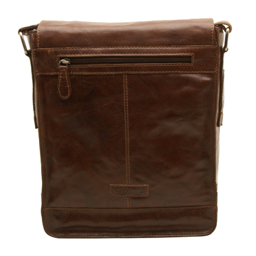 Ashwood – Tan Crumble Leather Kingston A4 Messenger Bag with iPad Pocket