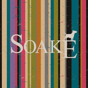 Soake – Black Automatic Folding Compact Umbrella with Wood Effect & Matt Hook Handle