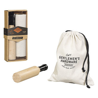 Gentlemen's Hardware – Wooden Ice Mallet with Ice Bag in Gift Box
