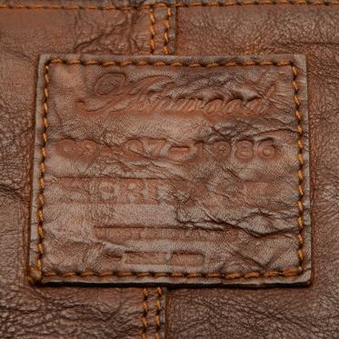Ashwood – Tan Shoreditch Messenger Flight Bag in Cowhide Leather