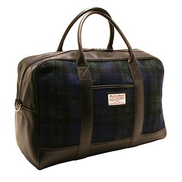 The British Bag Company – Blackwatch Tartan Harris Tweed Bragar Travel Bag/Holdall