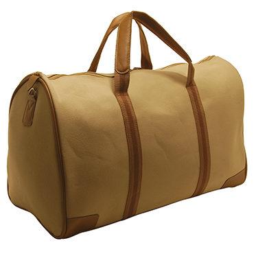Home Works – Cream Canvas Travel Holdall/Bag with Shoulder Strap