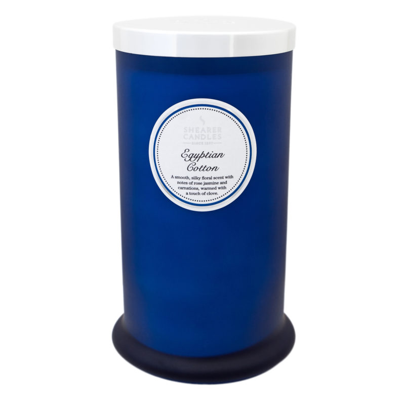 Shearer Candles – Egyptian Cotton Tall Pillar Jar Candle