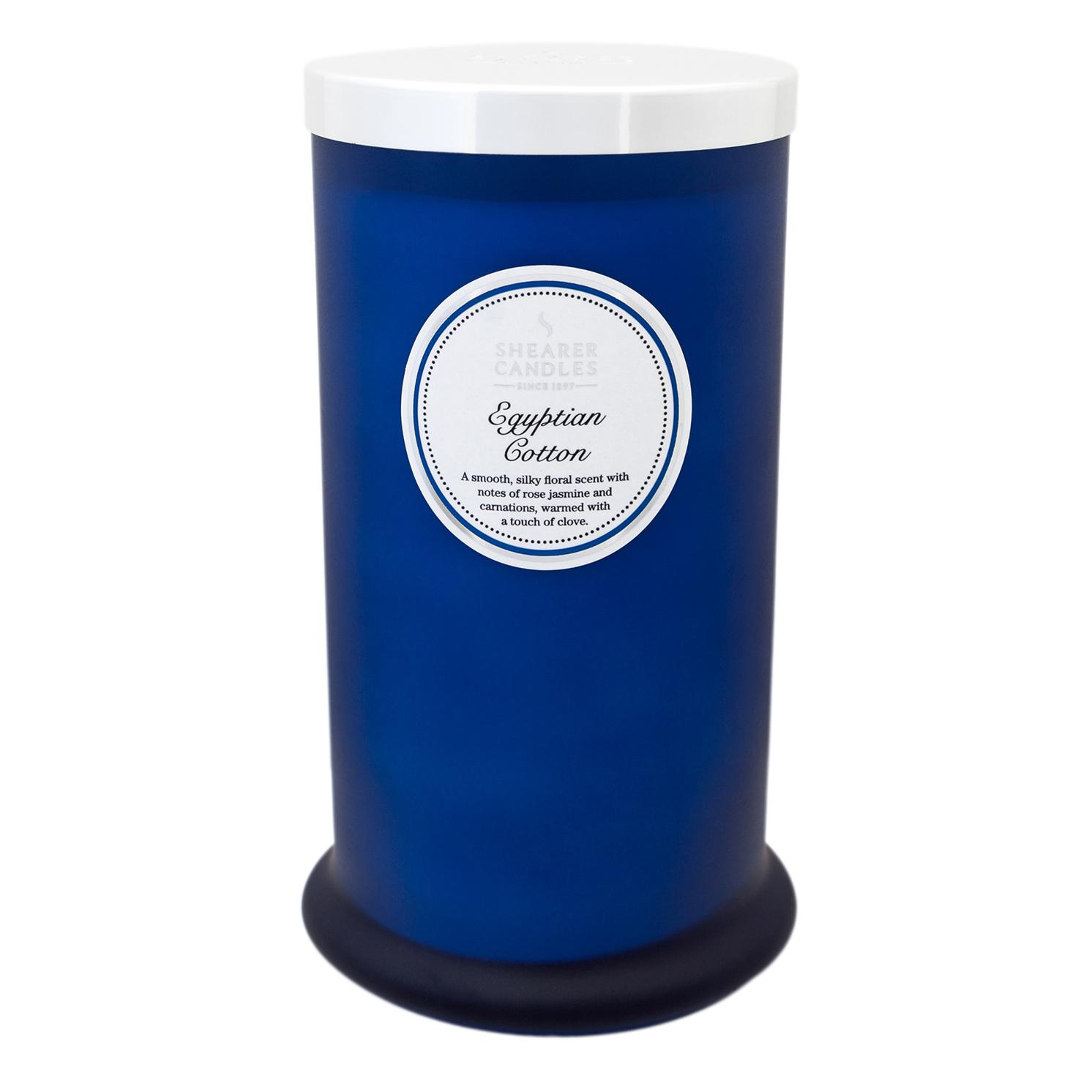 Shearer Candles – Egyptian Cotton Tall Pillar Jar Candle