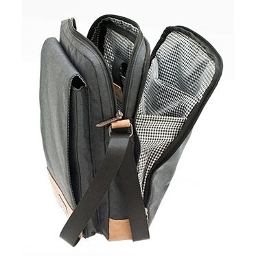 Davidt's – Grey Tablet Messenger Bag from the Mood & Moov Range