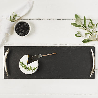 The Just Slate Company – Small Slate Serving Tray with Chilli Handles in Gift Box
