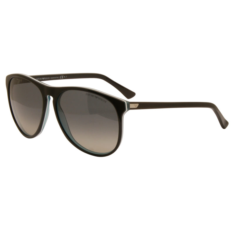 Emporio Armani – Black with Turquoise Back Wayfarer Aviator Sunglasses