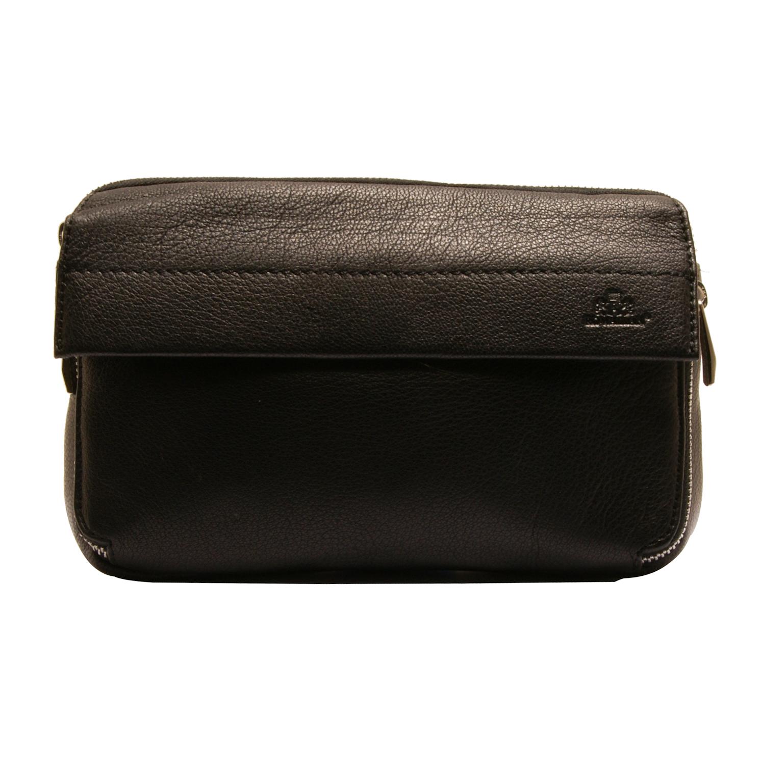 Rowallan – Black Soft Full Grain Italian Style Leather Travel Organiser