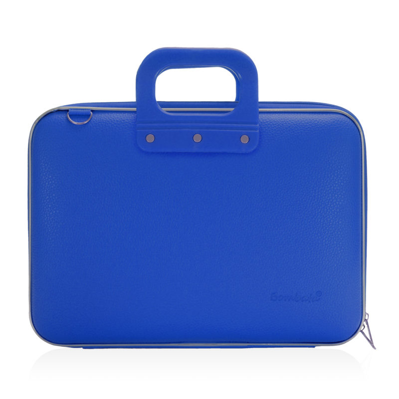 Bombata – Cobalt Blue Medio Classic 13″ Laptop Case/Bag with Shoulder Strap