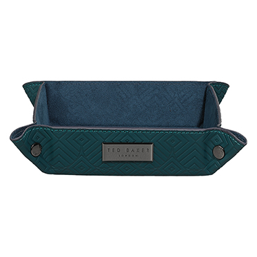 Ted Baker – Teal Green Geo Accessory Tray in Presentation Gift Box
