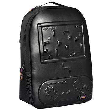 Urban Junk – Arcade Black 3rd Dimension Embossed Rucksack/Backpack