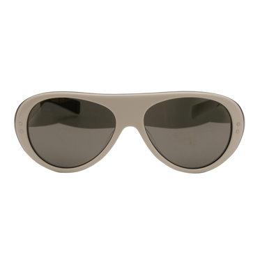 Nike – Vintage 76 White with Blue Back Aviator Sport Sunglasses
