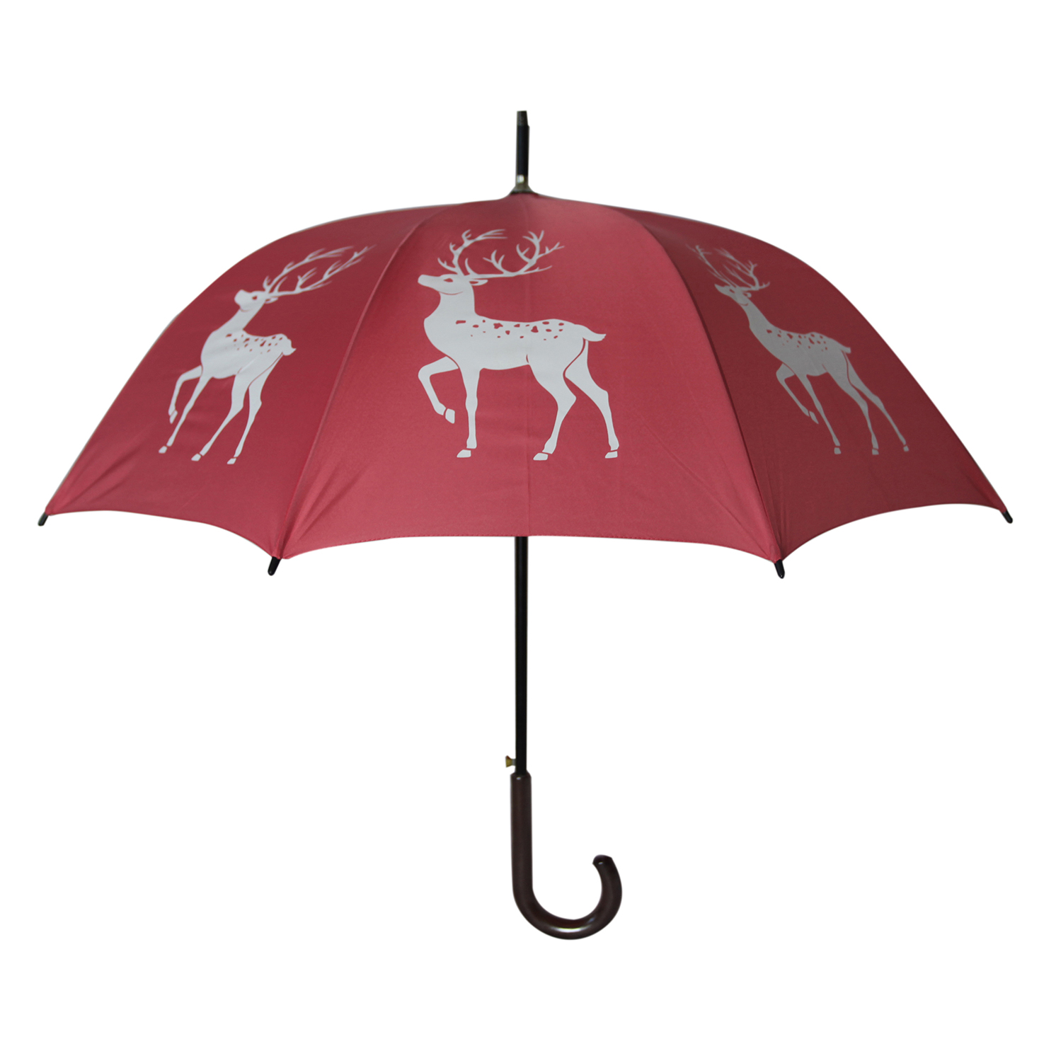 Soake – Reindeer Pink and White Automatic Stick Umbrella from the San Francisco Range