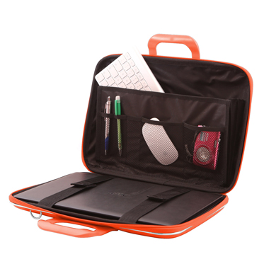 Bombata – Orange Classic 15″ Laptop Case/Bag with Matching Shoulder Strap