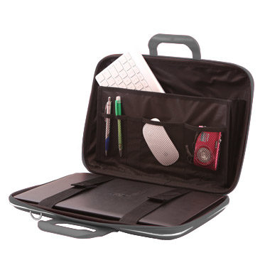 Bombata – Grey Classic 15″ Laptop Case/Bag with Shoulder Strap