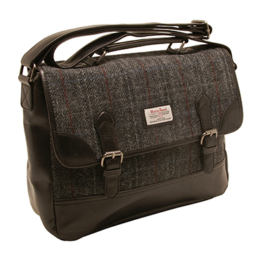 The British Bag Company – Berneray Harris Tweed Briefcase Messenger Bag