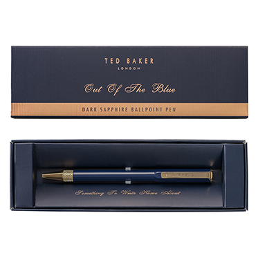 Ted Baker – Dark Blue Sapphire Premium Ballpoint Pen in Presentation Gift Box