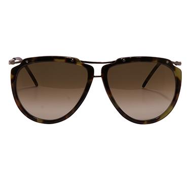 Jil Sander – Green Marble Oval Classic Sunglasses