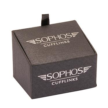 Sophos – Red Stripe Square Cufflinks in Gift Box