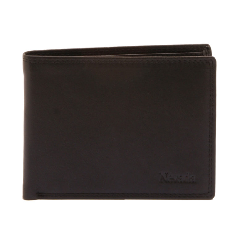 Hansson – Black Leather Nevada Billfold Wallet with Coin Purse