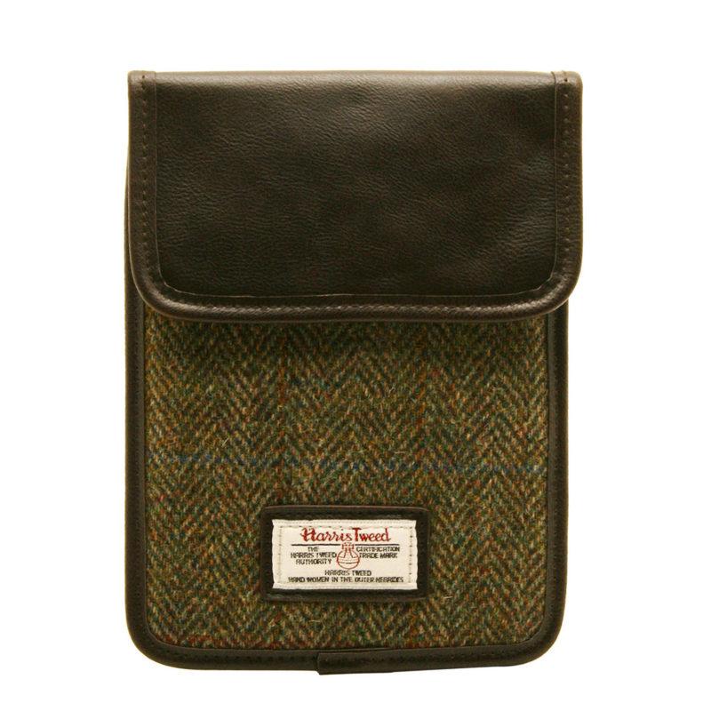 The British Bag Company – Green Check Harris Tweed iPad Mini Case