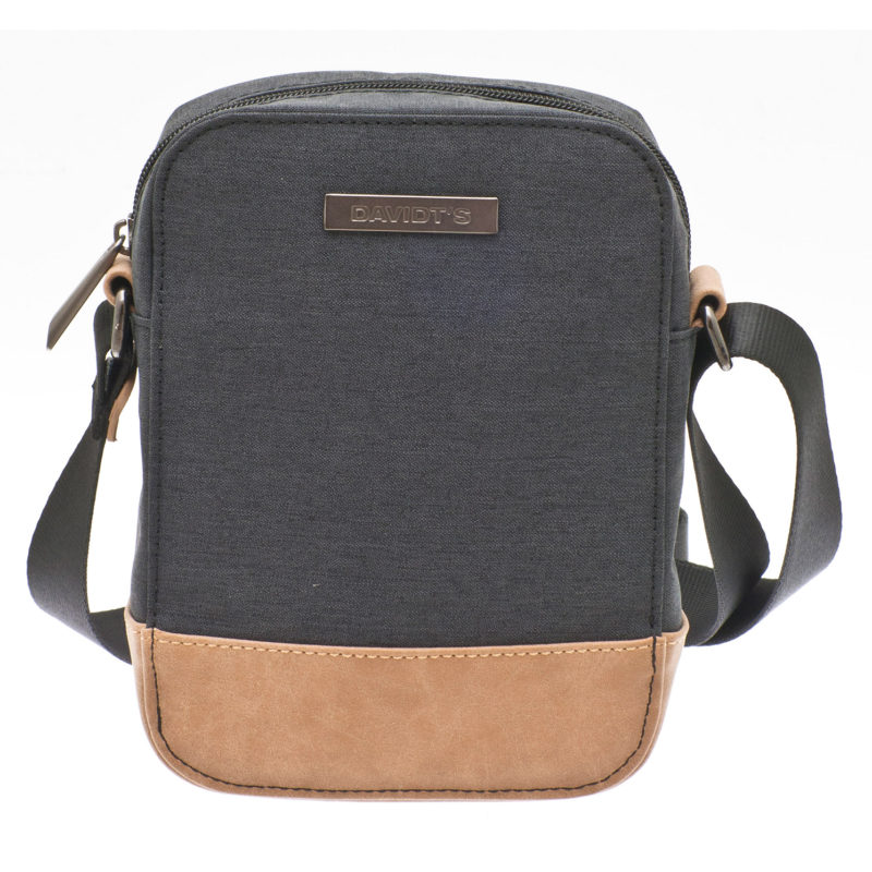 Davidt's – Small Grey Messenger/Body Bag with Tan Trim from the Mood & Moov Range