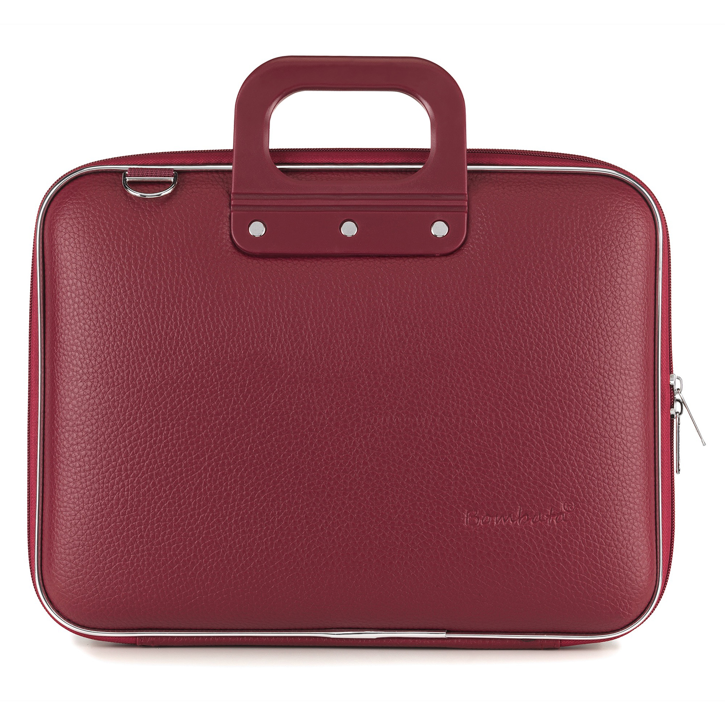 Bombata – Burgundy Red Medio Classic 13″ Laptop Case/Bag with Shoulder Strap