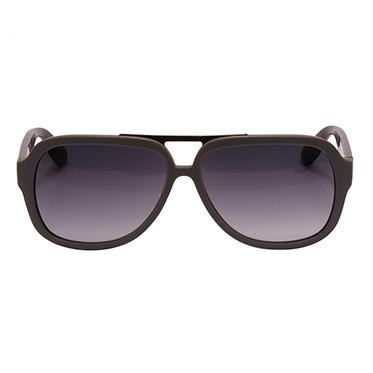 Alexander McQueen – Matt Grey Aviator Sunglasses with Case
