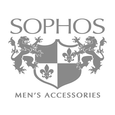 Sophos – Grey Tone Resin Stripe Rectangular Cufflinks in Gift Box