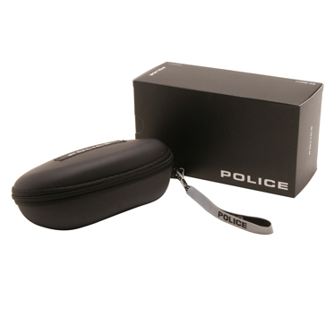Police – Shiny Black Classic Style Dust 1 Sunglasses with Case
