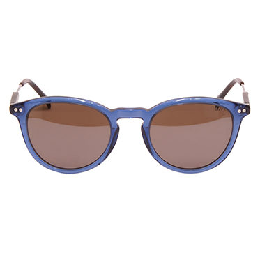 Tommy Hilfiger – Blue Ruthenium Classic Sunglasses with Case