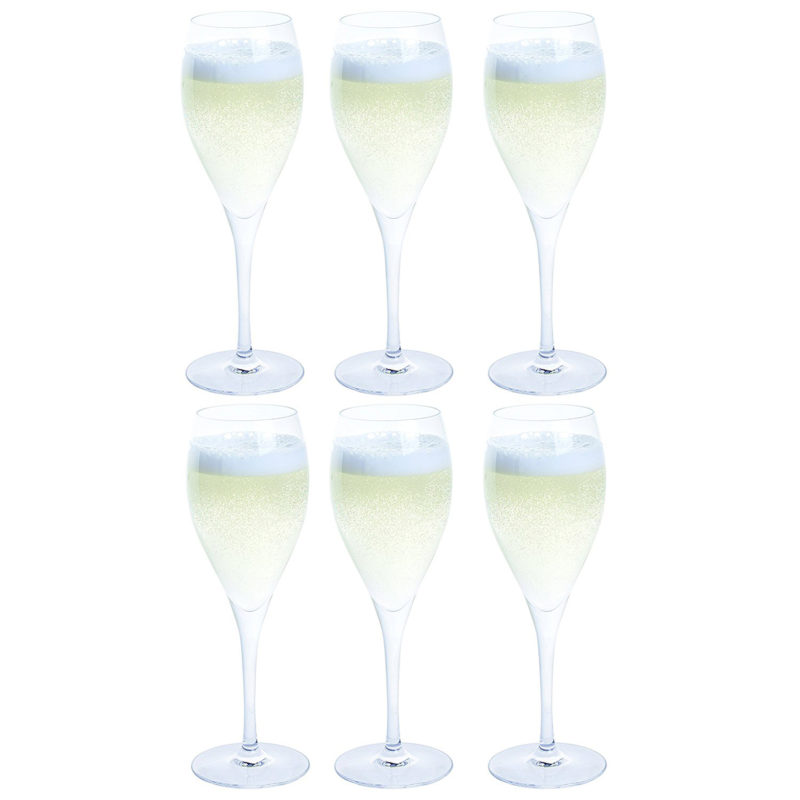 Dartington Crystal – Party Pack Set of Six Prosecco Glasses in Box