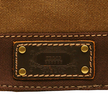 Troop London – Small Brown Heritage Messenger/Across Body Bag in Canvas-Leather