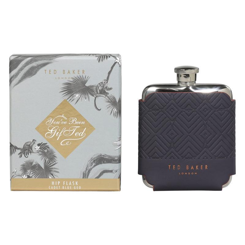 Ted Baker – Blue Cadet Hip Flask in Presentation Gift Box