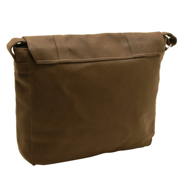 Home Works – Large Brown Mock Nubuck Messenger Bag