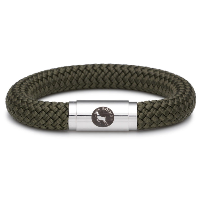 Boing – Chunky Large Wristband in Moss