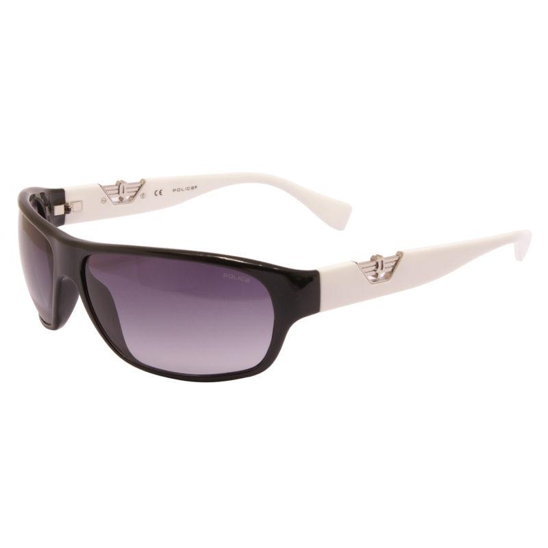 Police – Black Wrap Around Hero 1 Sunglasses with Case and Box
