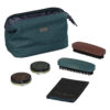 Ted Baker – 5 Piece Shoe Shine Kit in Blue Cadet Zip Case