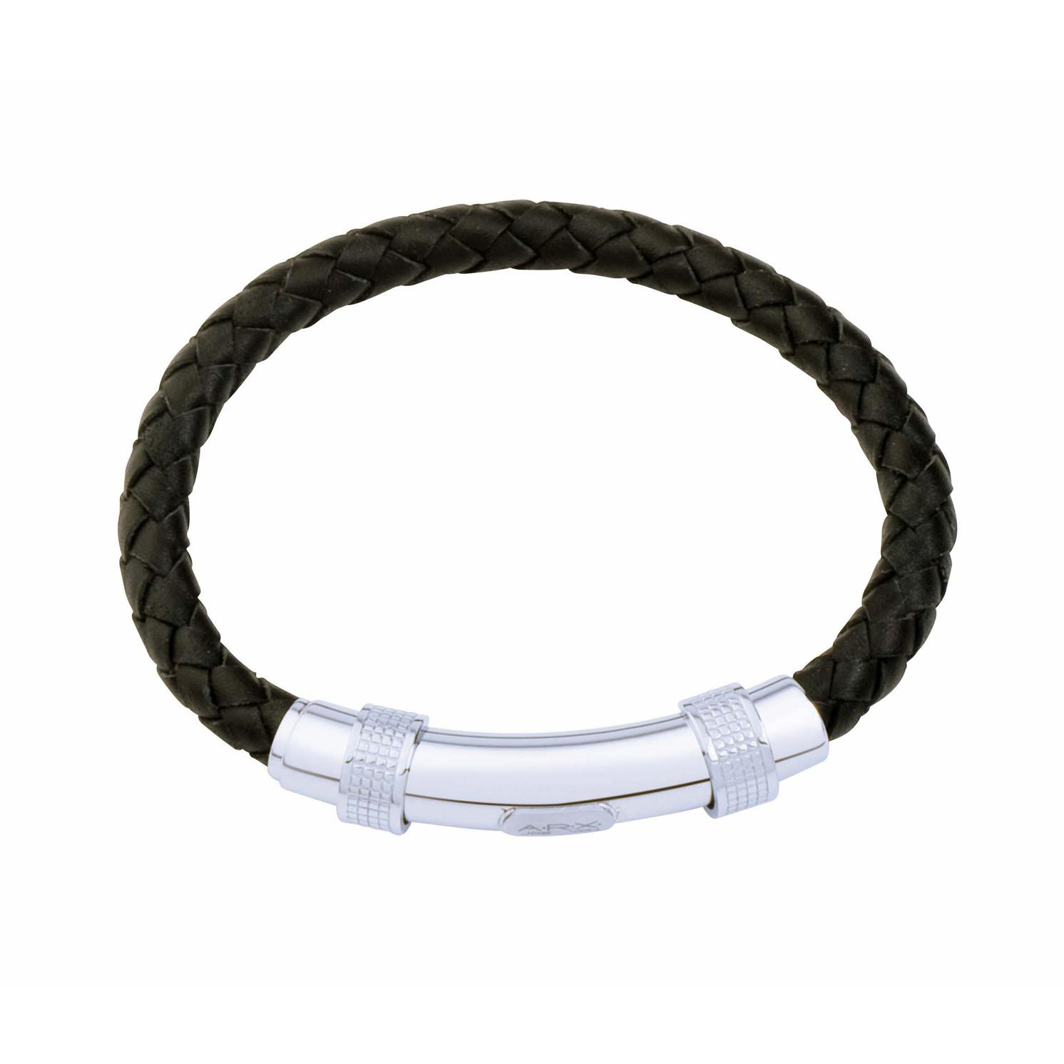 Jos Von Arx – Black Leather Intergrated Bracelet