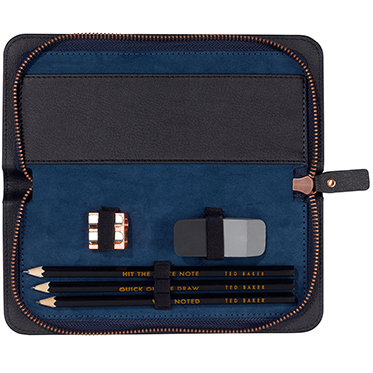 Ted Baker – Black Brogue Voyager's Pencil Set in Case