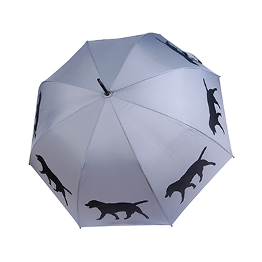 Soake – Labrador Grey and Black Automatic Stick Umbrella from the San Francisco Range