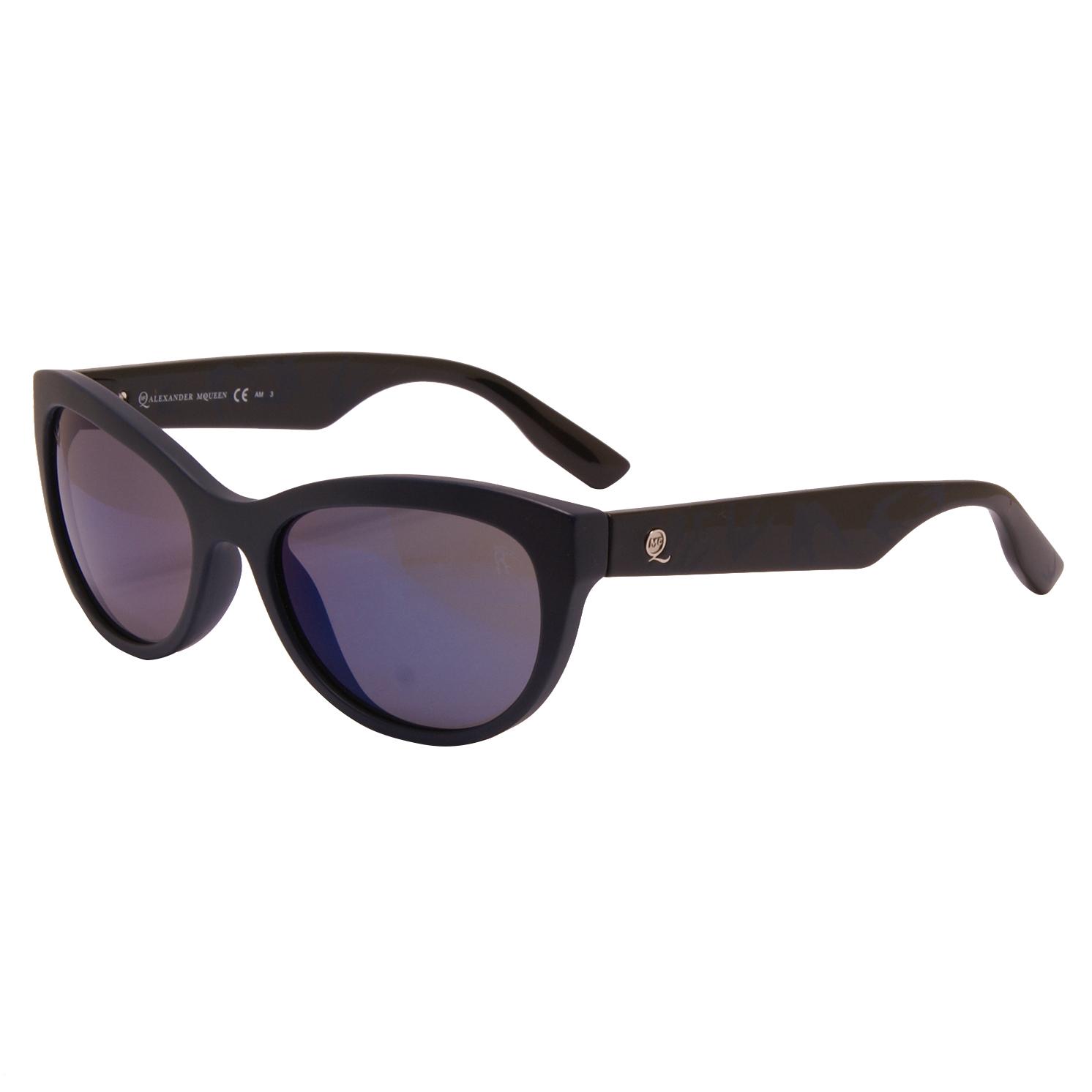 Alexander McQueen – Blue Swallow Design Classic Sunglasses with Case