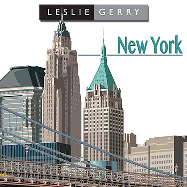 Leslie Gerry – New York Broadway Rollerball Pen in Metal Gift Box