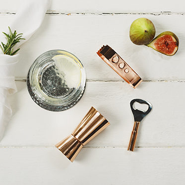 The Just Slate Company – 3 Piece Mini Copper Drinks Accessory Bar Set in Gift Box