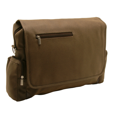 Home Works – Brown Mock Nubuck Messenger Laptop Bag